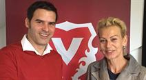 Bernt Haas und Vaduz-Präsidentin Ruth Opselt.