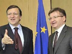 José Manuel Barroso traf sich mit dem Vize-Premier der Ukraine, Hryhoriy Nemyria.
