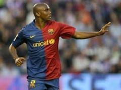 Barcelonas Samuel Eto'o schoss das einzige Tor.