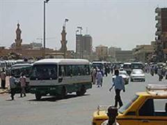 Strassenszene in Khartum.