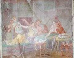 Fresko in der Villa dei casti amanti, Pompei.