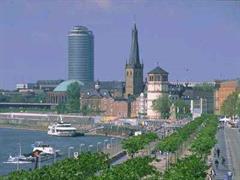 Rhein-Promenade in Düsseldorf.