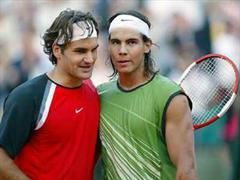 Roger Federer und Rafael Nadal.