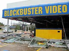 Zerstörte Videothek in Beaumont, Texas.