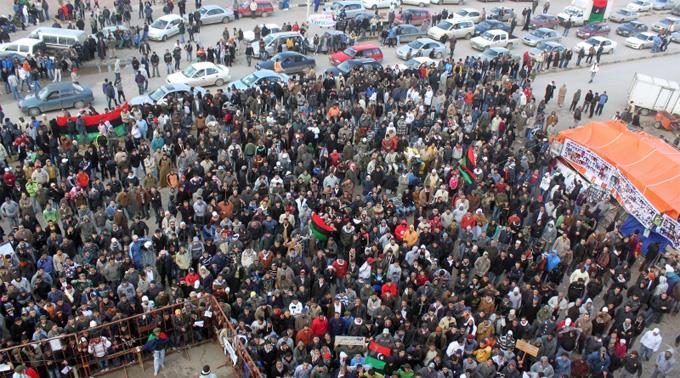 Protestierende in Tripolis. (Archivbild)