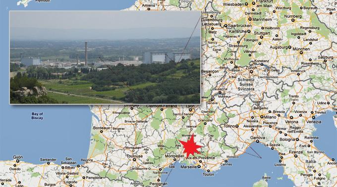 Die Explosion ereignete sich im stillgelegten Atomkraftwerk in Marcoule.