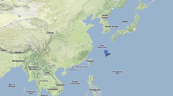 Erdbeben vor Okinawa.