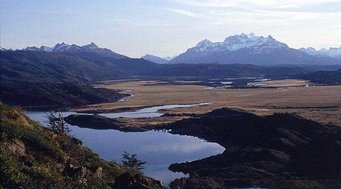 Der Torres del Paine National Park in Chile.