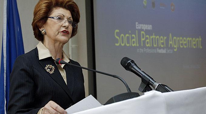 Sportkommissarin Androulla Vassiliou.