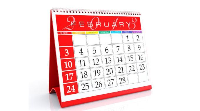 Kalender Februar