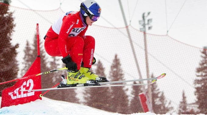 Fanny Smith feiert beim Skicross-Weltcup in Arosa einen Doppelsieg.
