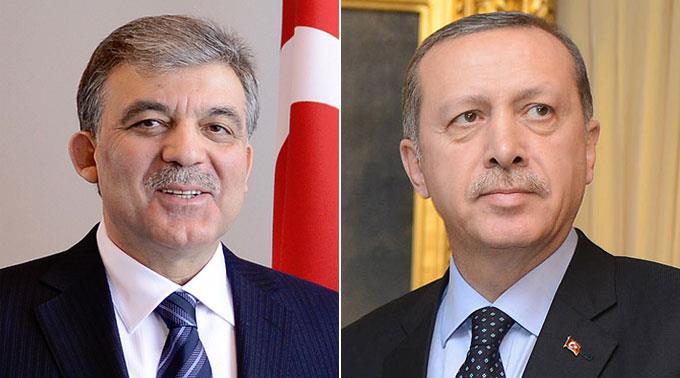 Selbst Staatspräsident Abdullah Gül (l.) widersetzt sich den Massnahmen der Regierung unter Erdogan (r.).