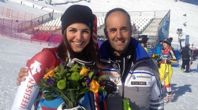 Beatrice Scalvedi mit ihrem Trainer Ivano Nesa.